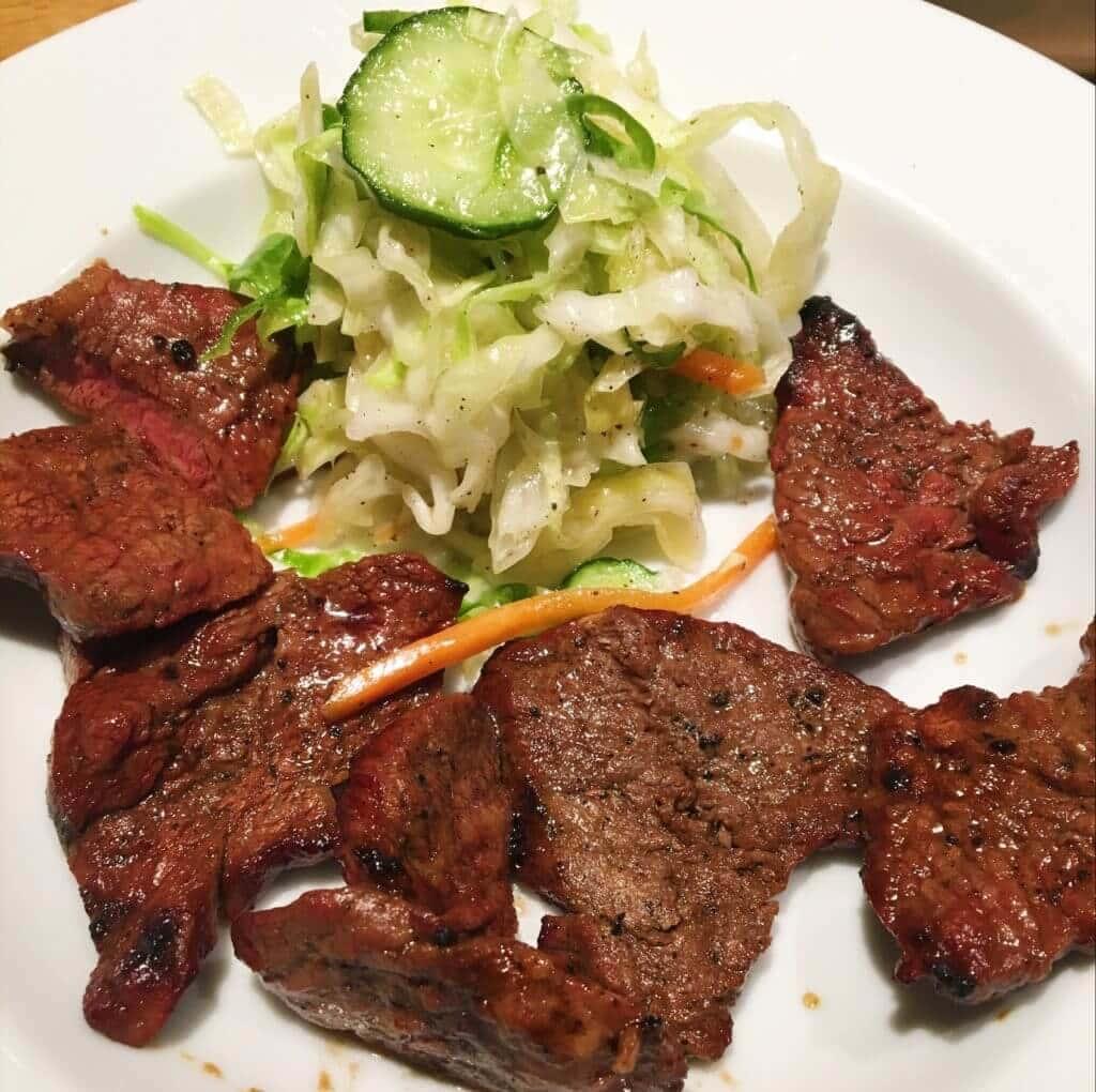 まつざか牛ステーキ定食1100円