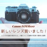 キャノン,Canon,単焦点レンズ,EFM22,標準レンズ,違い,F値,わかりやすく