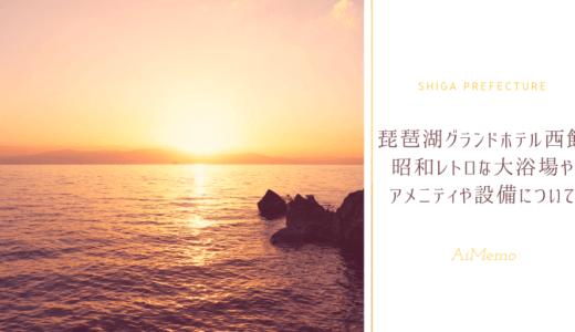 琵琶湖グランドホテル|部屋やお風呂がレトロ|西館の設備やアメニティなど