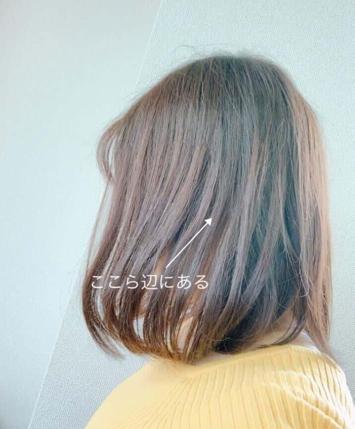 髪のおかげで見えないAirpods