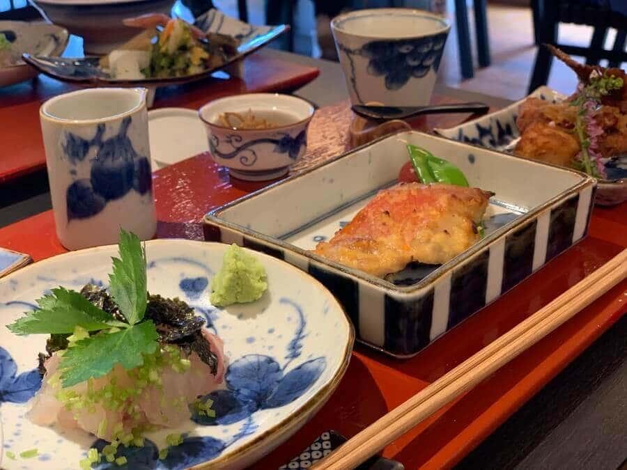 鯛の刺身と鯛の西京焼