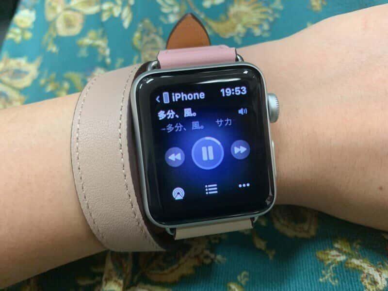 Apple Watchでミュージックを操作