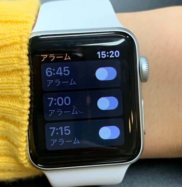 Apple Watchのアラーム設定